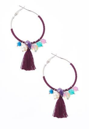Tasseled Purple Hoops | Tuggl