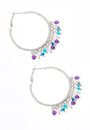 Shaky Purple Bead Hoops | Tuggl