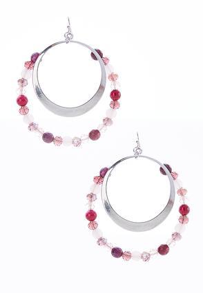 Rondelle Bead Circle Earrings | Tuggl