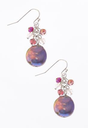Iridescent Cluster Shell Earrings | Tuggl