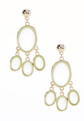 Dangle Frosted Oval Hoops | Tuggl