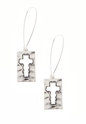 Cutout Cross Wire Earrings