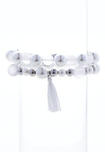 Pearl Bead Stretch Bracelet Set
