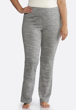 Plus Size Space Dye Knit Pants | Tuggl