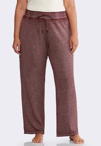 Plus Size Faded Wash Fleece Pants