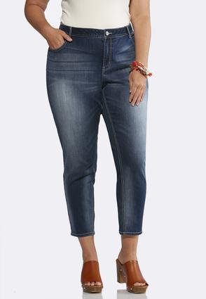 Plus Size Dark Wash Skinny Jeans   Tuggl