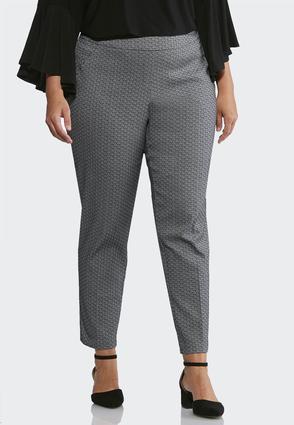 Plus Size Jacquard Pull-On Pants | Tuggl
