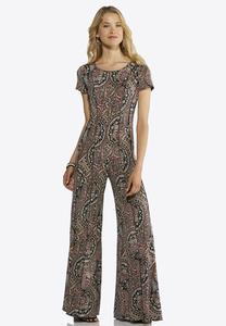 Multi Seamed Paisley Jumpsuit
