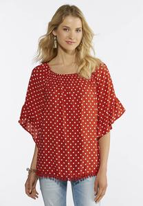 Red Polka Dotted Top