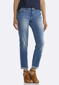 Relaxed Girlfriend Ankle Jeans