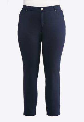 Plus Size Essential Ponte Skinny Pants | Tuggl