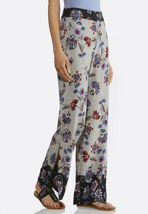 Floral Houndstooth Palazzo Pants | Tuggl