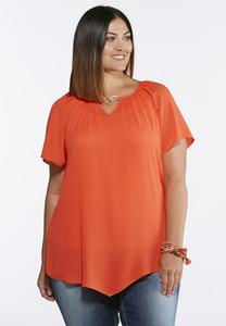 Plus Size Chain Embellished Top