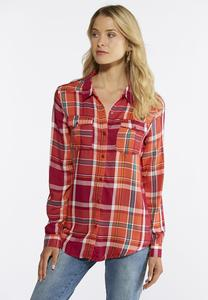 Autumn Plaid Button Down Shirt