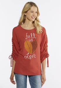 Plus Size Fall In Love Ruched Top