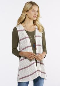 Striped Hacci Knit Vest