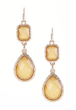 Shimmer Stone Dangle Earrings | Tuggl