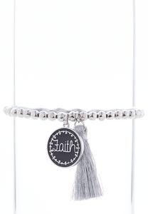 Faith Tassel Stretch Bracelet