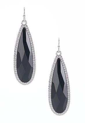 Rhinestone Border Earrings | Tuggl