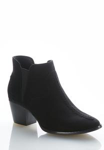 Double Gore Stitched Ankle Boots
