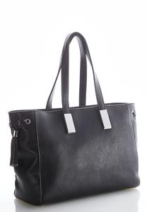 Faux Leather Tassel Tote