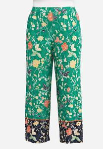 Plus Size Windy Floral Palazzo Pants