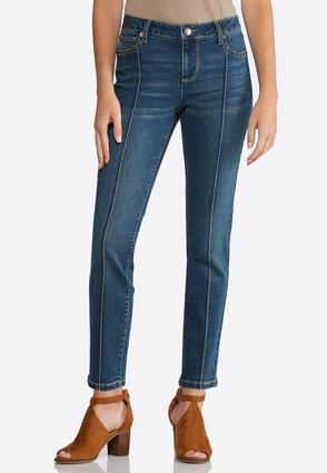 Pintuck Ankle Jeans   Tuggl