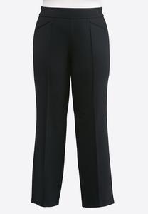 Plus Size Pintuck Ponte Pants