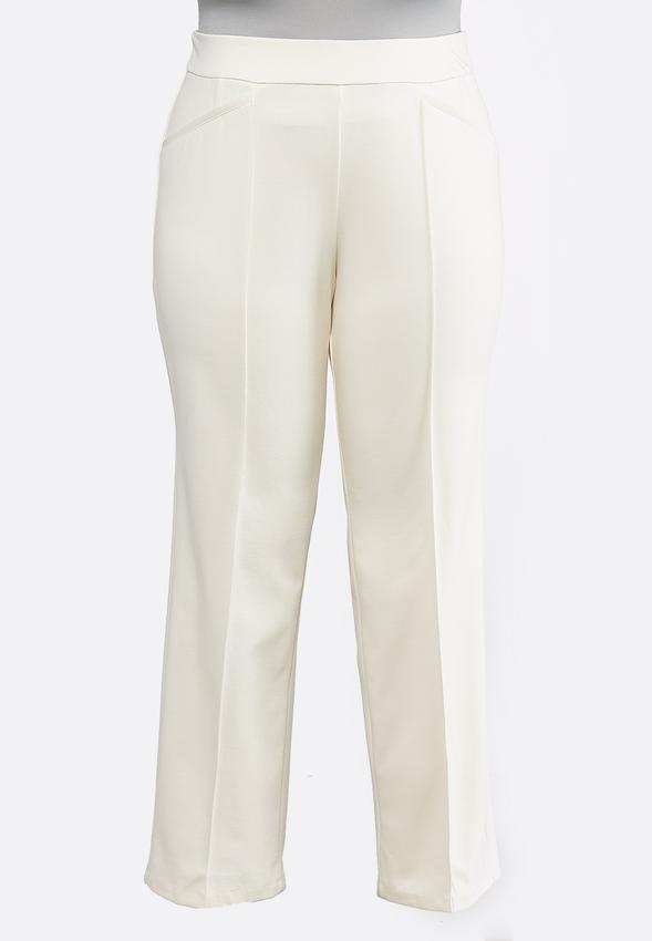 b6bd494c785 Plus Size Pintuck Ponte Pants Pants Cato Fashions