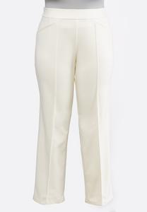 Plus Size Pintuck Ponte Pants