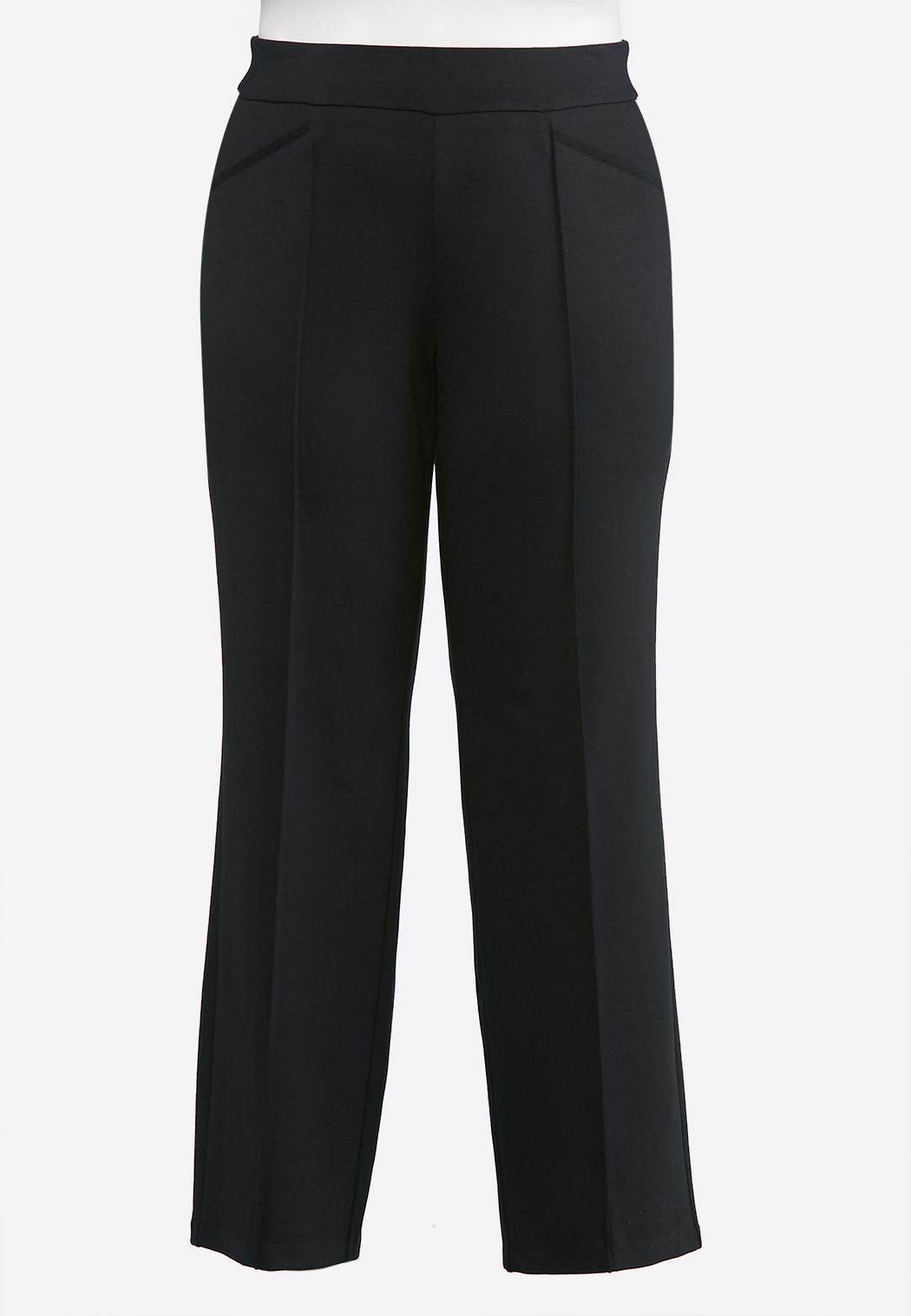 Plus Petite Pintuck Ponte Pants