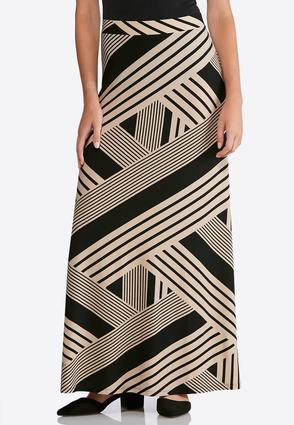 Geo Print Maxi Skirt   Tuggl