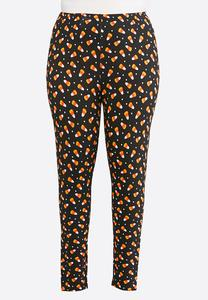 Plus Size Candy Corn Leggings