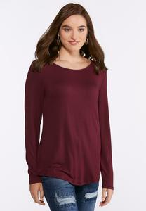 Plus Size Boat Neck Essential Top