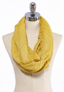 Crinkled Solid Infinity Scarf