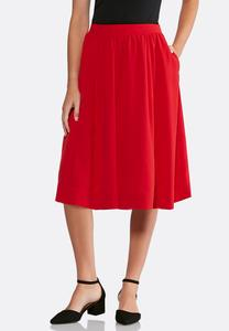 Plus Size Midi Party Skirt