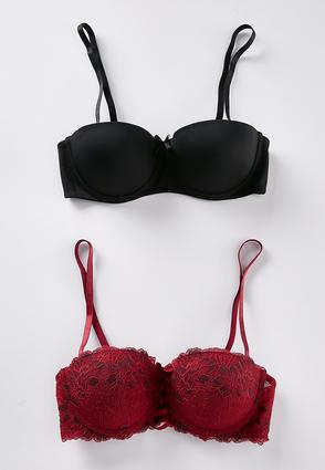 Plus Size Laced Front Convertible Bra Set