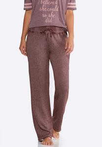 Faded Wash Fleece Pants