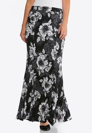 Floral Hacci Mermaid Skirt