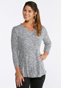 Plus Size Hacci Space Dye Tunic