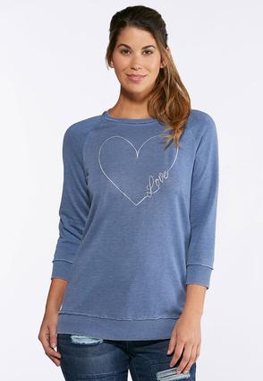 Embroidered Love Sweatshirt | Tuggl