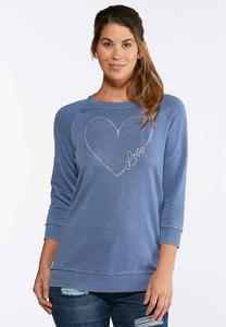 Embroidered Love Sweatshirt