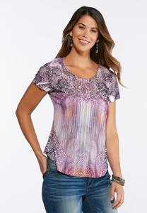 Embellished Purple Shaded Top