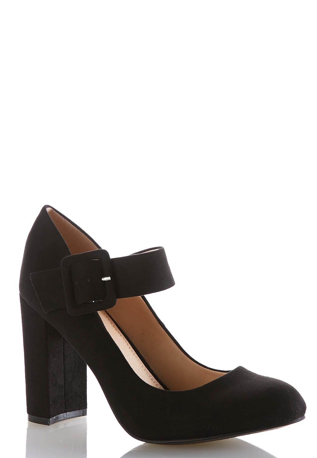 e9255779529 Wide Width Mary Jane Block Heel Pumps Heels Cato Fashions