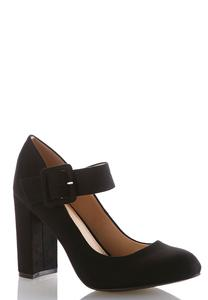 Mary Jane Block Heel Pumps