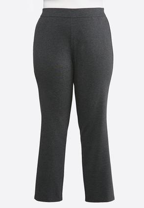 Plus Size Slim Leg Ponte Pants | Tuggl