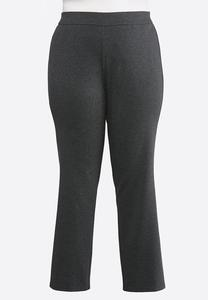 Plus Size Slim Leg Ponte Pants