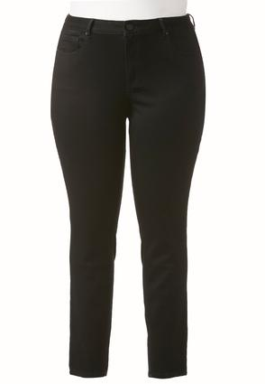Plus Extended Black Jeggings | Tuggl