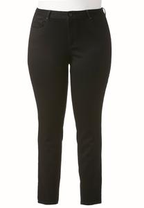 Plus Extended Black Jeggings