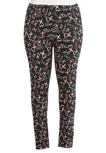 Plus Size Hope Ribbon Leggings